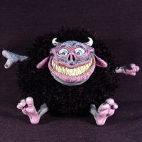 Binky Boo OOAK Plush Gremlin by Undead-Art