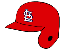 St. Louis Cardinals red batting helmet by Chenglor55