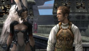 Fran and Balthier in ff12 by renzukuken