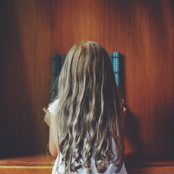 Faceless portrait of a little kid by alpqwerty
