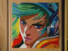 Arcade Riven Portrait/ Hama beads by Cimenord