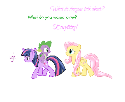 Twilight and spike meet fluttershy by chiilovestacos