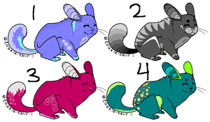 Chinchilla Pointables by freaking-adopts