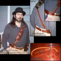 Utility Bandoleer and Belt by Steampunked-Out