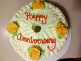 Happy Anniversary! Cake by missblissbakery