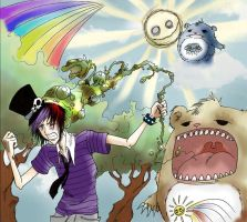 attack of the carebears by gothfuu
