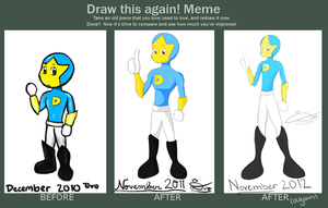 Draw This Again Meme: Super D by KingDvo
