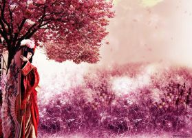Under the cherry blossom tree by Ds4