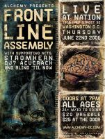 Front Line Assembly Flyer by industriarts