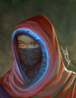 Cybernetic Hijab Concept Art by JoelChua