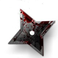 Ninja Star with blood by Ad4m-89