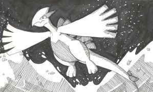 Lugia in Ink by KD476