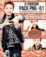 G-Dragon (Big Bang) - PACK PNG #01 by JeffvinyTwilight