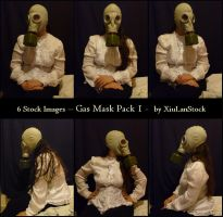 Gas Mask Portrait - Pack 01 by XiuLanStock