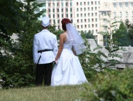 Weding from back by 1photo