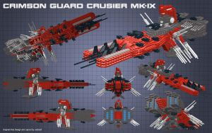 Crimson Guard Crusier MK-IX by usstodd