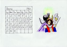 January 2012 Calendar by lordtrigonstar