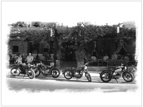 Motorcycles in Crete by Pajunen