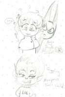 Annie Shade and Meepers scribbles by Kittychan2005