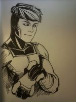 Gambit Sketch by CrazyBluePsychopath