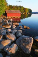 Red Boathouse by Toni-R