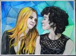 Cara Delevingne and St. Vincent by Yami19