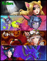 Gaia Banner Comms - Set 1 by Majime