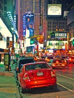 Broadway at night by JWalkerimages