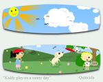Kiddy play on a sunny day by Quincula