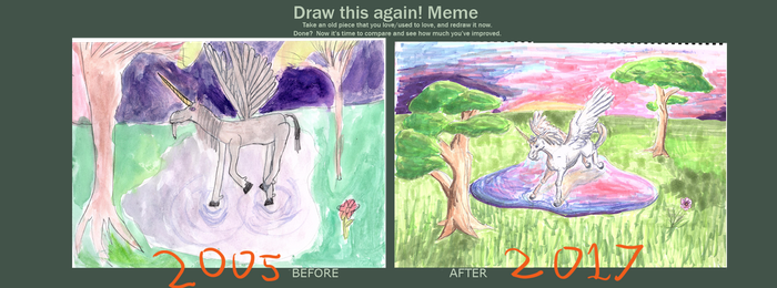 before and after meme- Pond dance by inidis