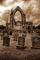 Bolton Abbey sepia by taffmeister