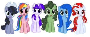 DOLL: Internet Mane Six by PrincessDeathWish