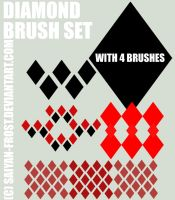 Diamonds Brush Set Photoshop by saiyan-frost