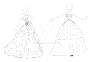 Ball Dresses adoptable _SOLD_ by Niesavich