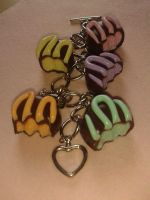 Half Eaten chocolate Charm bracelet. by Luna-Goodies