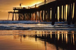 Pismo Beach Pier Sunset Too by robgbob