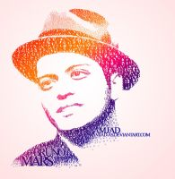 Bruno Mars typography by Amjad-AS