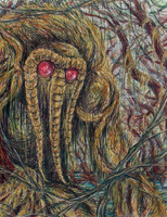 Man-Thing in chalk pastel by CagsCreations