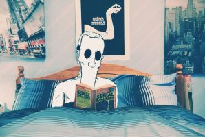 Billy the killer - reading in bed by dsaintd