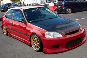 Honda Civic Red. by RikaDesigner