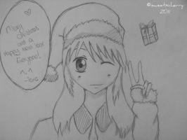 Christmas Drawing by iSweetxCherry