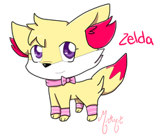 Zelda The Fennekin by MimiTheFox