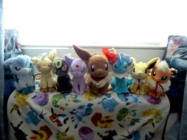 Rainbow Deluxe Eevee evolutions COMPLETE by kiraradaisuki