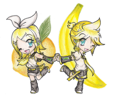 Singing Siblings: Rin and Len by ColeyCannoli