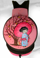 ''Geisha'' painted headphones1 by Ketchupize