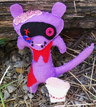 Zombie Ferret Plushie by BarbedDragon