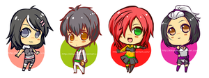 First batch Chibi Lineup commission by KiiruSama