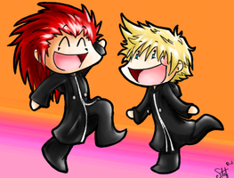 Axel and Roxas Dance for Joy by stef-o-chan