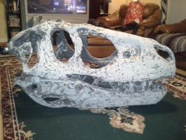 The Skull in from CNC as it sits in my living room by Asgardianhammer
