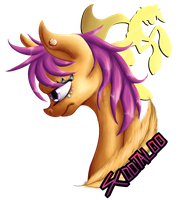 Cutie Mark Crusader Badge - Scootaloo by Glitchdove